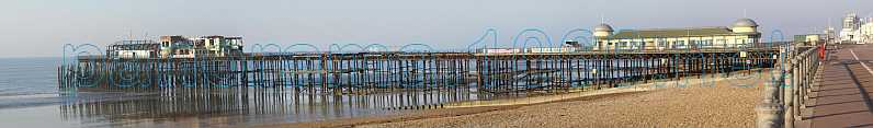 Panoramic view of Hastings Pier